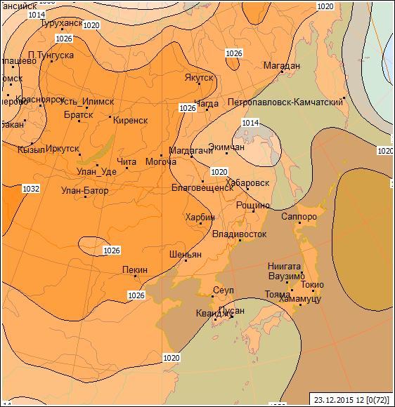 Карта погоды атмосферное давление