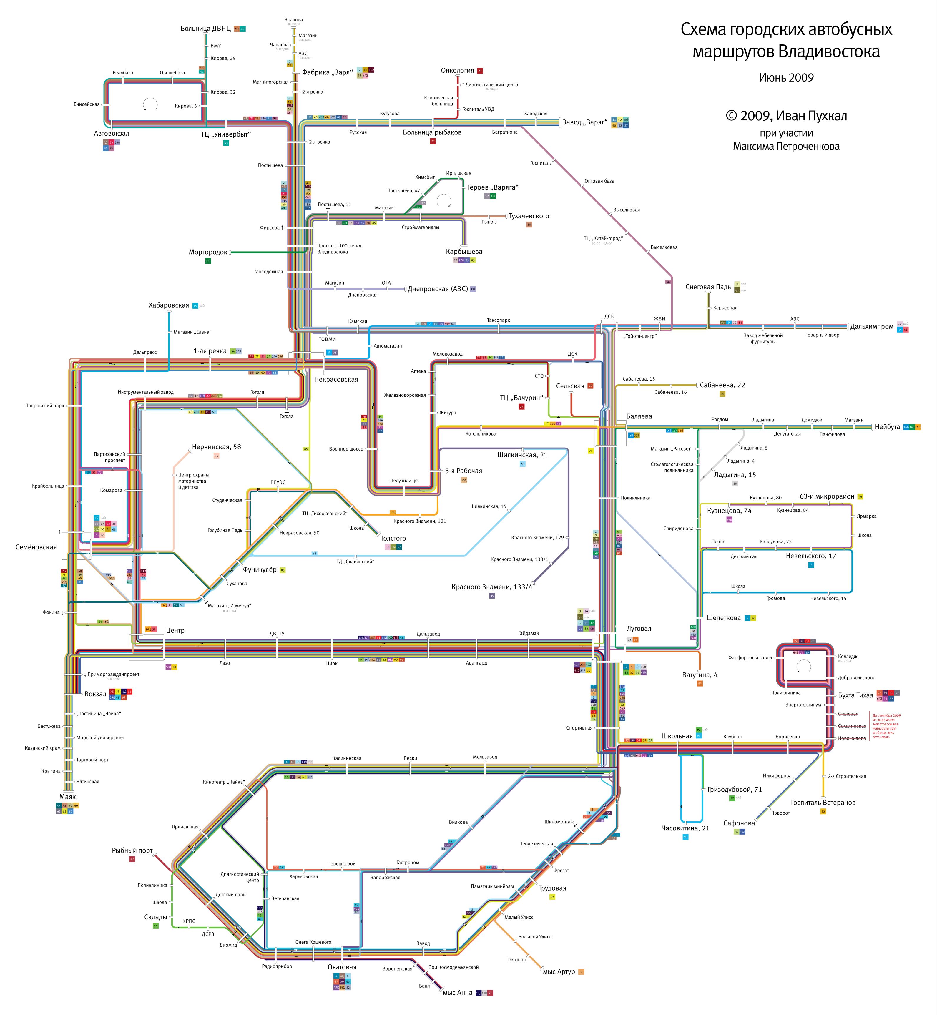 Схема движения автобусов во владивостоке фото 762